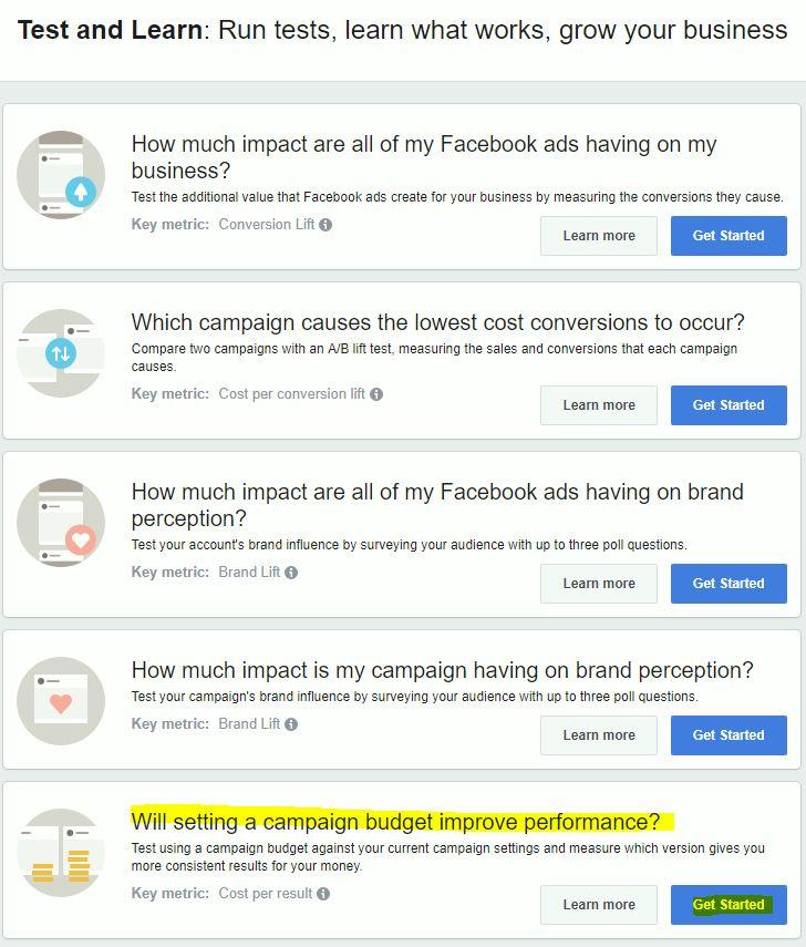 Facebook: Campaign Budget Split Testing | Mark Proctor